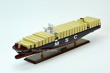 """MSC Oscar Handmade Wooden Container Ship Model 39"""" Scale 1:400"""