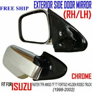 with for Isuzu Faster TFR TF Rodeo 1998-2002 side view door Mirror Pair CHROME