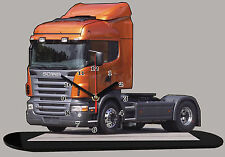 MINIATURE CAMION, TRUCK SCANIA R420 ORANGE  02 en horloge