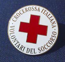 Pin Croce Rossa Italiana Volontari del Soccorso (araldica,militaria)