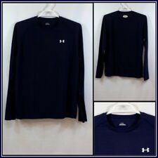 Under Armour Solid Dark Blue Long Sleeve Athletic/Workout Shirt Sz (L) #14273