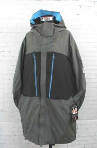 New 2019 686 Mens GLCR Ether Down Thermagraph™ Jacket Large Charcoal Colorblock