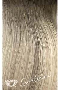 "Human Remy Clip In Hair Extensions - Elegant - Santorini Blonde -  18"" - 130g"