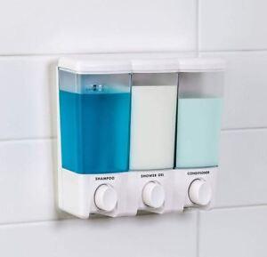 Bathroom Shower Bath Liquid Soap Shampoo Conditioner Lotion Wall Dispenser Pump