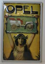 OPEL COCHE DE MOTOR 3d Letrero de metal (bs384)