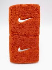 "Nike Swoosh Wristbands University Orange/White 3"" Men's Women's"