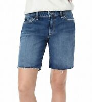 Joe's Womens Shorts Annika Blue Size 25 Bermuda Raw Hem Stretch Denim $118 171