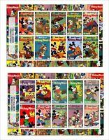 2017 DISNEY MICKEY MOUSE 4 SOUVENIR SHEETS animation comics