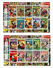 2017 DISNEY MICKEY MOUSE 4 SOUVENIR SHEETS animation cartoons