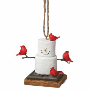 S'more with Cardinal Ornament   Free Ship USA