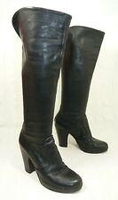 FIORENTINI BAKER Womens Leather Italian Knee High Heel Zip Up Boots UK 5 Eu 38