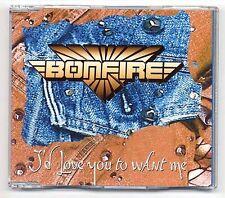 Bonfire Maxi-CD I'd Love You To Want Me - 2-track - german heavy metal hard rock