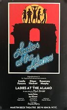 "LADIES AT THE ALAMO ORIG BROADWAY WINDOW CARD 22"" X 14"" 1977 ESTELLE PARSONS"