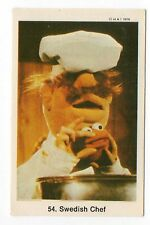 1970s Swedish Card #54 The Muppet Show Muppets Swedish Chef