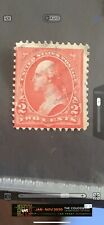 Valuable George Washington Used 2 cent stamp Print Off Center