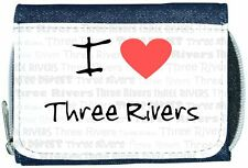 I Love Heart Three Rivers Denim Wallet