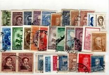 Used Multiple Argentine Stamps