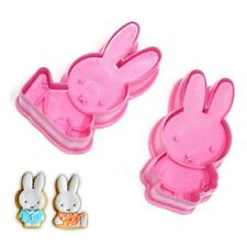 2pcs Miffy Shape Sugarcraft Plunger Cutter Fondant Cake Cookie Decorating Mold
