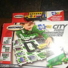 2002 MATCHBOX PLAYSET CITY PUZZLE 20 PIECE & EXCLUSIVE SCHOOL BUS EDITION
