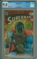 Superman 317 CGC 9.0 OW/W Neal Adams cover DC kryptonite 1977 Newsstand