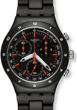 Schwarze Armbanduhren aus Aluminium