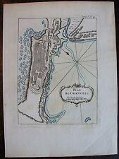 PLAN DE GRANVILLE : gravure originale 1764