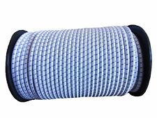 8mm x 50m WHITE/BLUE FLECK SHOCK CORD ELASTIC BUNGEE ROPE Sailing Camping