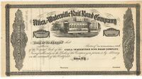 1866-1868 UTICA AND WATERVILLE RAIL ROAD CO NY New York Railroad Stock Cert