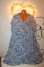 NEW BLUE CUPRO TUNIC TOP DRESS SPRING WEDDING PARTY 18 MARKS SPENCER PER UNA £55