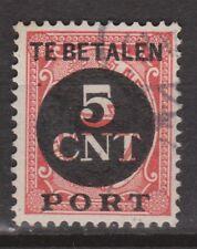 P66 Port nr 66 used NVPH Netherlands Nederland Pays Bas due portzegel