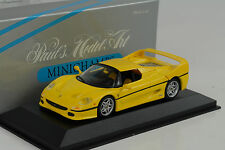 1995 Ferrari F50 Coupe yellow gelb 1:43 Minichamps