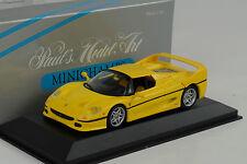 1995 Ferrari F50 Coupe yellow gelb 1:43 Minichamps