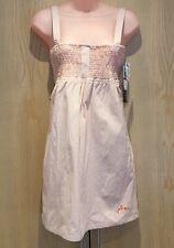 BNWT Volcom Size XS 'Day Trippin' Dress Orange White Striped Tie Back Mini NEW