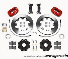 Wilwood Forged Dynalite Front Big Brake Kit,Red,Fits 2016-2017 Mazda Miata,MX5