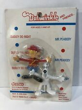Vintage 1986 Jesco Dudley Do Right Mr Peabody Bendable Figures - Nib