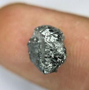 Big Rough Uncut Diamond TCW Gray Black Sparkling Natural Antique Shape for Jewel
