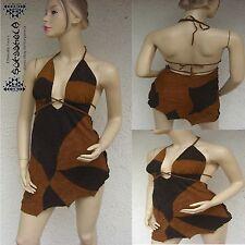 La edad media centímetro vestido de cuero rock gótico LARP Goa laursen sexy Jungle robe Cuir