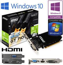 nVidia GeForce GT 710 1GB DDR3 PCIe HDMI DVI VGA Low Profile Graphics Card