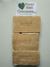 3 BARS GOAT MILK SOAP HAPPY GOAT CREAMERY HONEY UNSCENTED HANDMADE CHEAP DIRECT