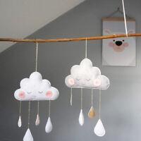 Nordic Cloud Water Drop Felt Wall Hanging Ornament Baby Nursery Room Decor Gift