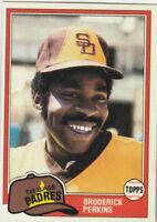 FREE SHIPPING-MINT-1981 Topps #393 Broderick Perkins SD Padres PLUS BONUS CARDS