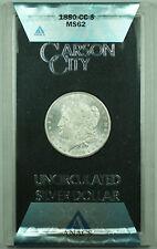 1880-CC GSA Morgan Silver Dollar $1 Coin ANACS MS-62 with Box & COA (B)