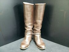 Auth TANINO CRISCI DarkBrown Leather Boots US#6.5