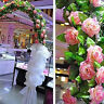Eg _ Künstlich Gefälschte Seide Rose Blume Efeu Rebe Wandbehang Girlande
