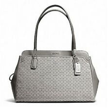 Brand New COACH 25213 MADISON NEEDLEPOINT KIMBERLY CARRYALL in Silver/Light Grey