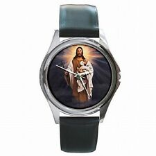 Jesus Lamb Shepherd Christian Catholic Bible Art Leather Watch New!