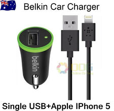 Belkin Car Charger +  Lightning Cable for Apple iPhone iPad mini ipad