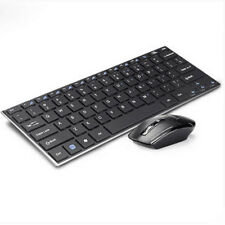 Ultra Slim Quiet 2.4GHz Wireless Keyboard and Mouse Combo for Desktop Notebook