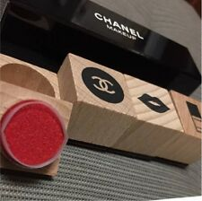 New Authentic CHANEL MAKEUP VIP Gift Novelty Rare Wood Rubber Stamps Set F/S