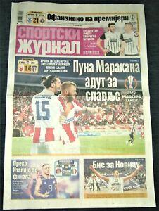 2021 RED STAR Serbia v BRAGA Portugal! SPORTSKI ZURNAL Daily newspapers Matchday